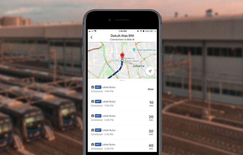 Cara Melihat Jadwal MRT Jakarta di Google Maps