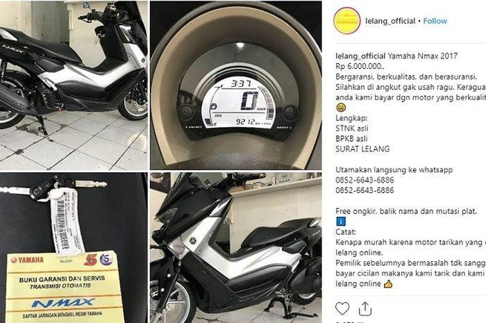 Waspada Penipuan Lelang Motor Bekas Murah Di Instagram Ada Lokasi