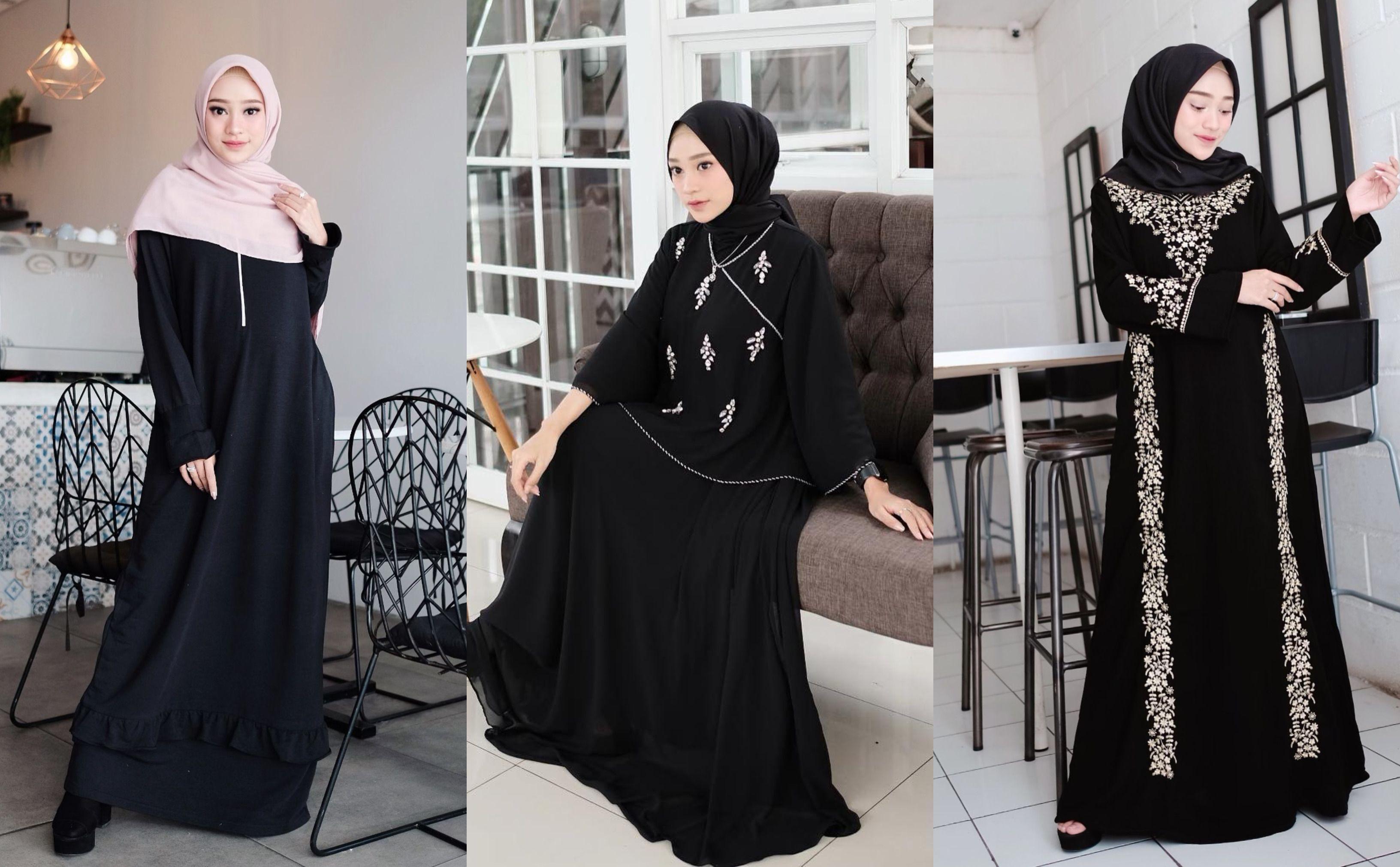 3 Pilihan Gamis Hitam Yang Santun Elegan Buat Dipakai Selama Ramadan Semua Halaman Cewekbanget