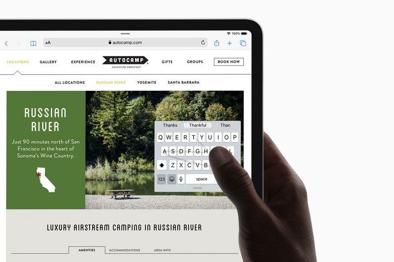 Safari di iPad OS dan Keyboard Baru