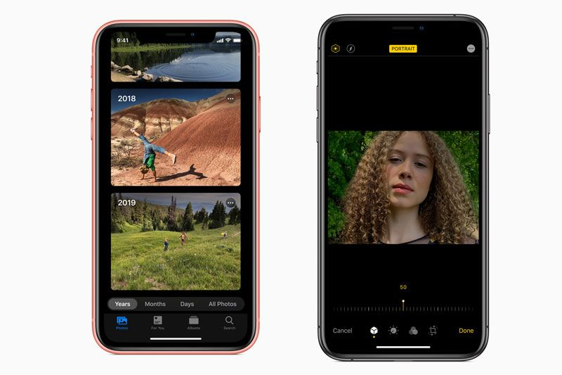 Photos di iOS 13