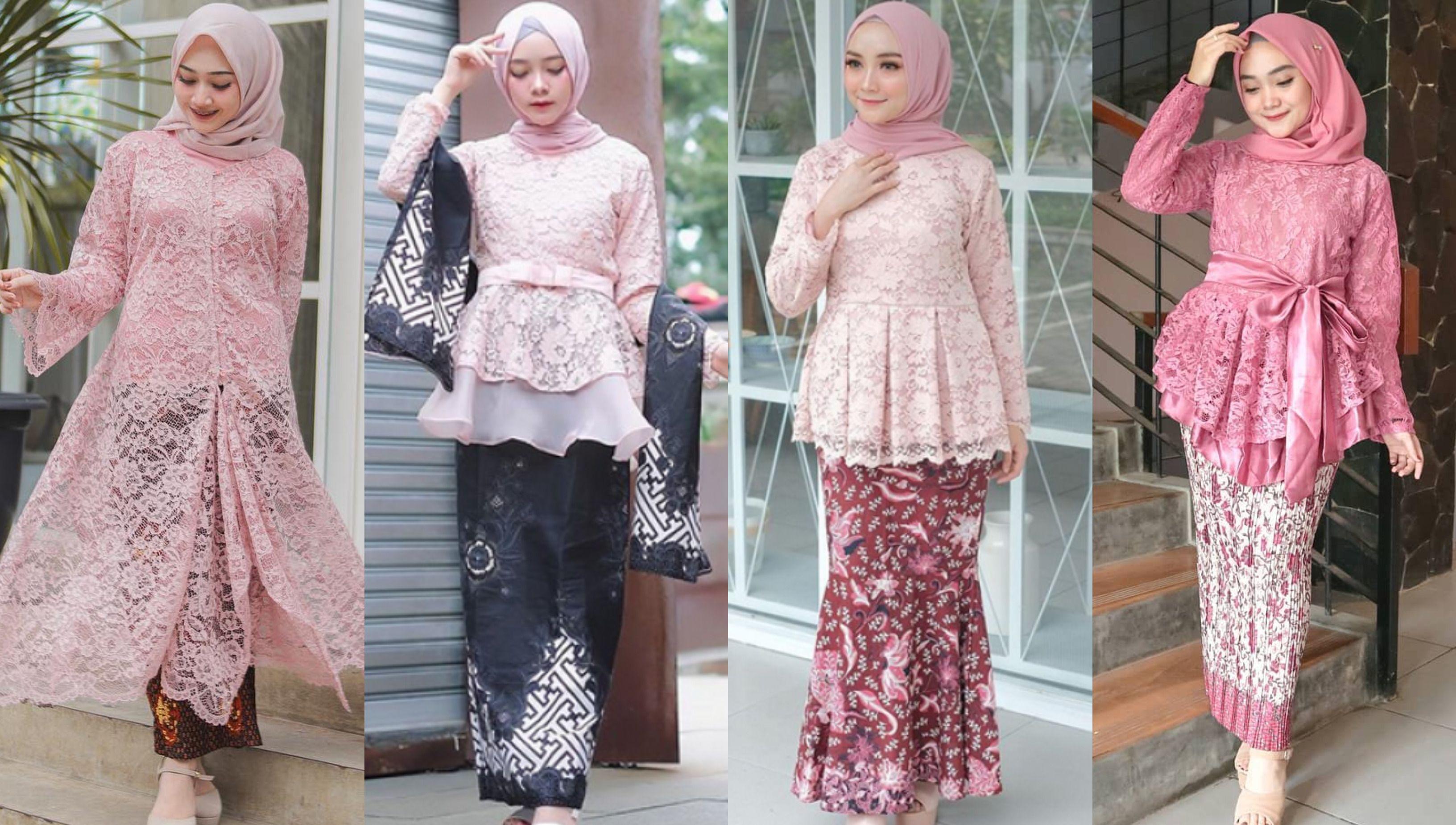 4 Paduan Kebaya Brokat Hijab Warna Pink dan Kain Batik untuk Gaya Kondangan  Manis Memikat! - Semua Halaman - CewekBanget