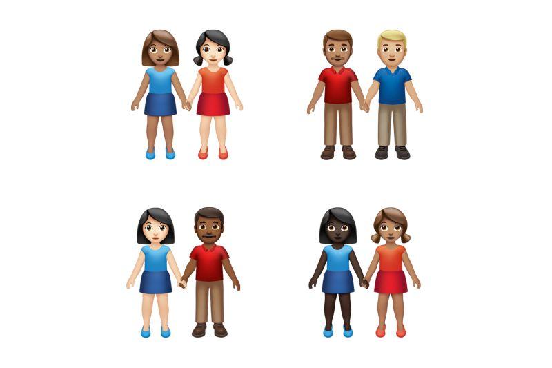 Emoji bergandengan tangan