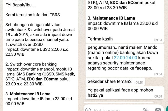 Beredar Pesan Berantai Sebut Saldo Nasabah Bank Mandiri Hilang Gara Gara Aplikasi Faceapp Pihak Bank Beri Pernyataan Semua Halaman Grid Hot