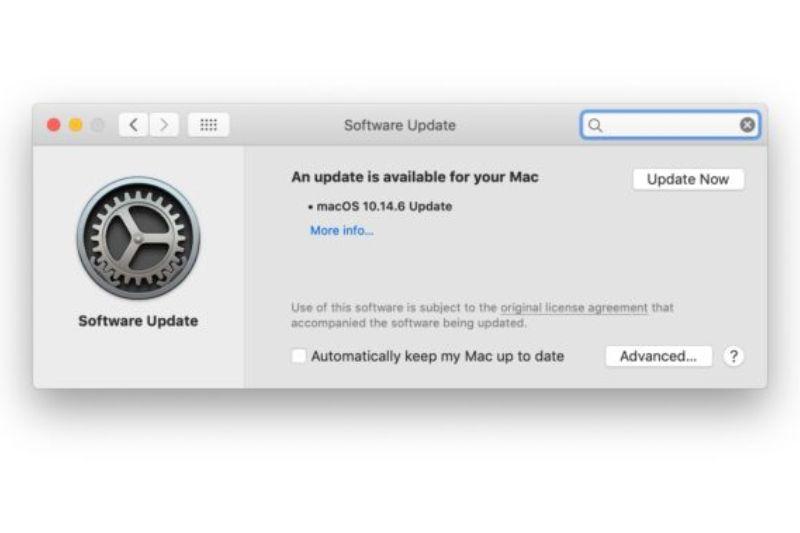 Notifikasi update macOS Mojave 10.14.6