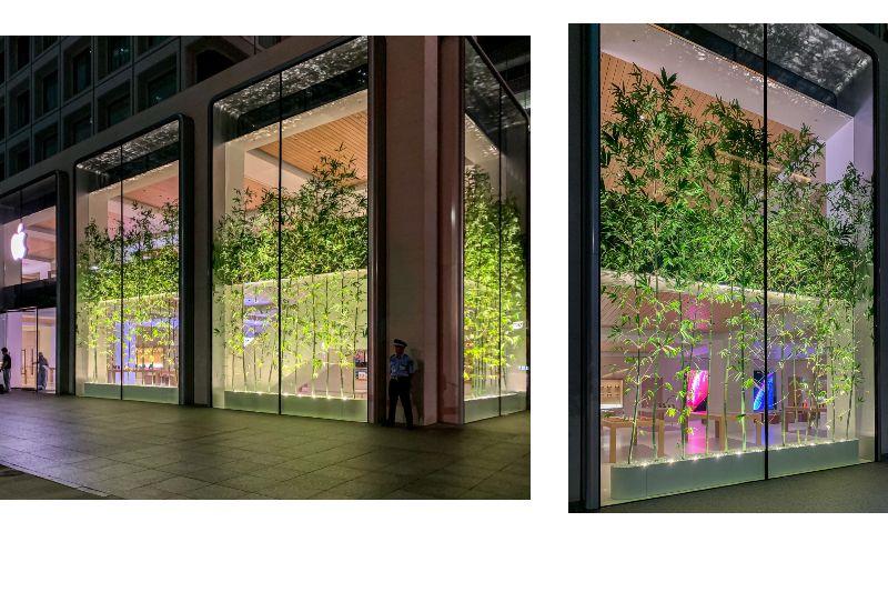 Jendela besar menghiasai Apple Marunouchi