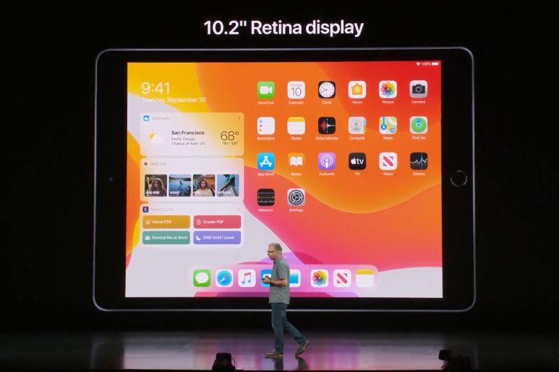 Tampilan dan ukuran iPad generasi ketujuh