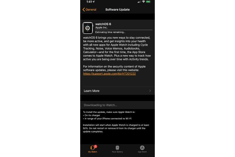 watchOS 6 Telah tersedia