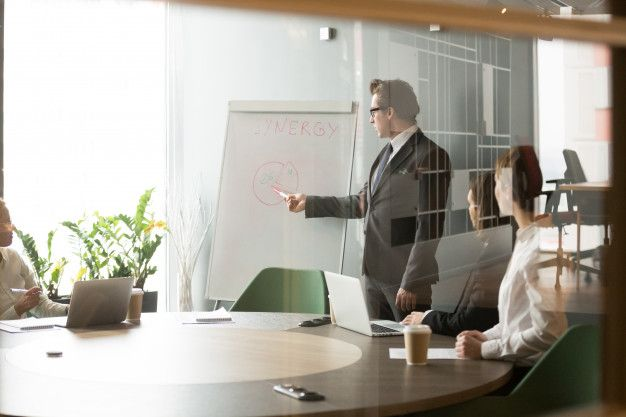 Ilustrasi pemimpin perusahaan.