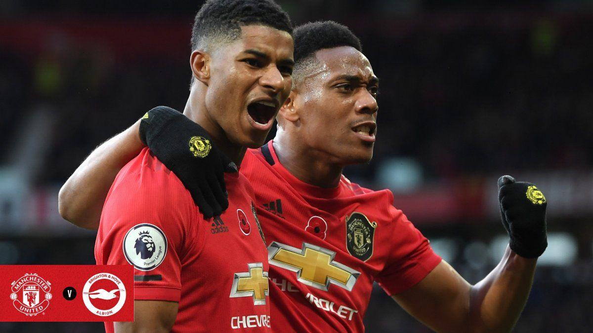 Manchester United Vs Brighton Marcus Rashford Bukukan 2