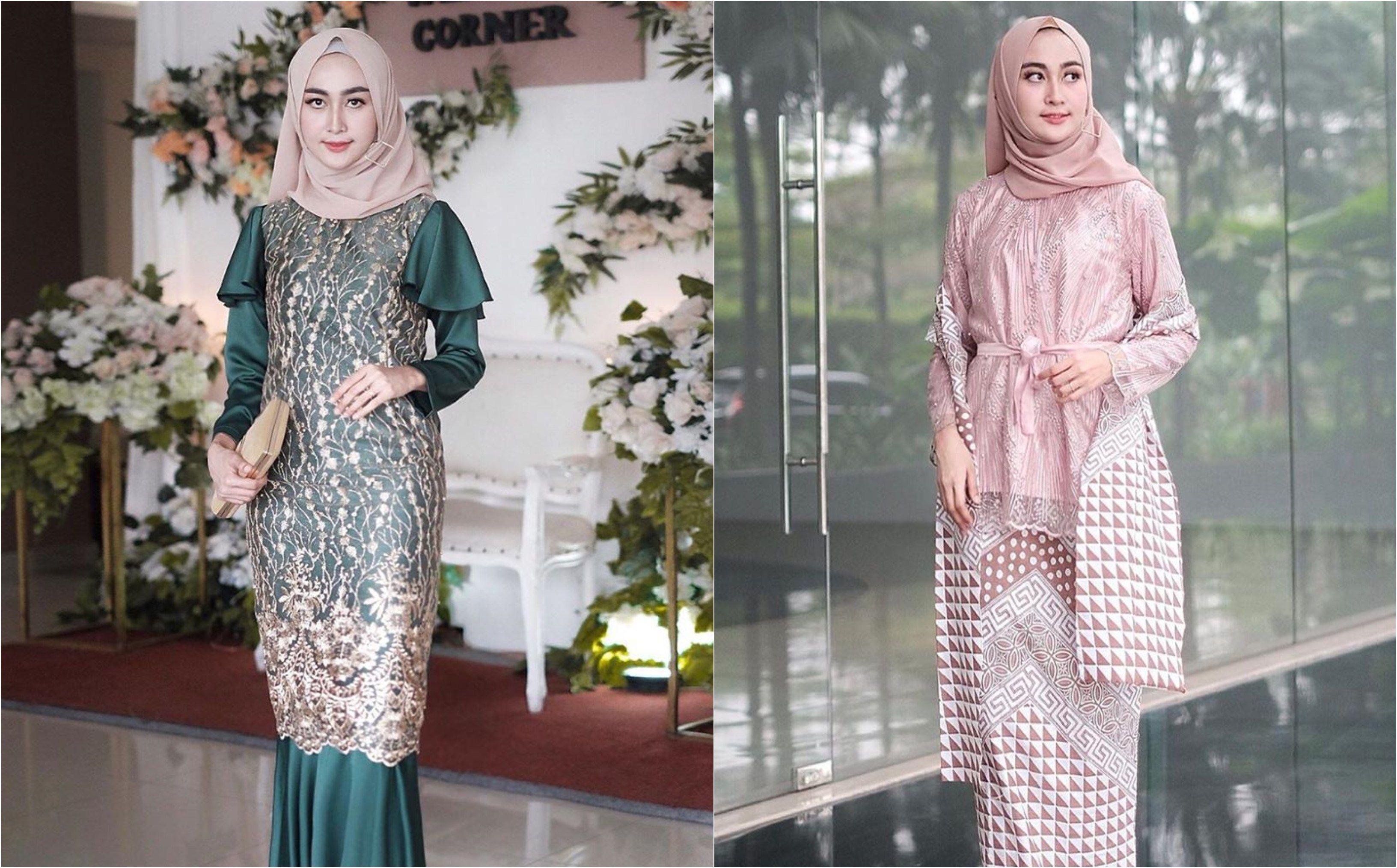 12 Model Kebaya Hijab Kekinian yang Mewah untuk Dipakai Kondangan