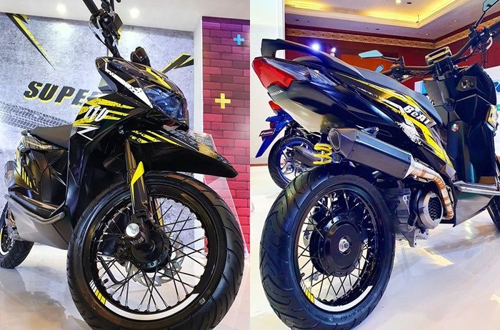 All New Honda Beat Street 2020 Modifikasi Supermoto Kaki Kaki Ala Honda Crf Motorplus