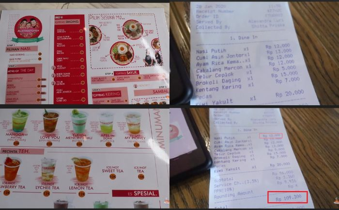 Patok Harga Selangit Untuk Menu Makanan Dan Minuman Di Restorannya