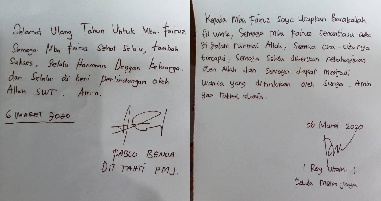 2 Sosok Ini Ucapkan Selamat Ulang Tahun Pada Fairuz A Rafiq