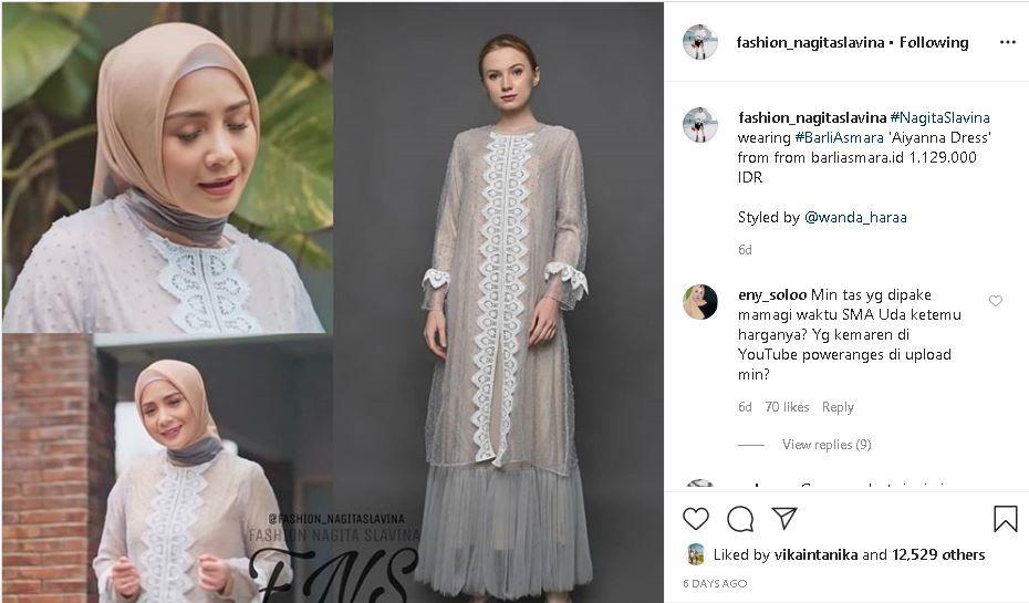 Inspirasi Baju Lebaran 2020 Long Dress Ala Nagita Slavina Hingga Celana Plisket Ala Olla Ramlan Ini Bisa Ditiru Semua Halaman Grid Star