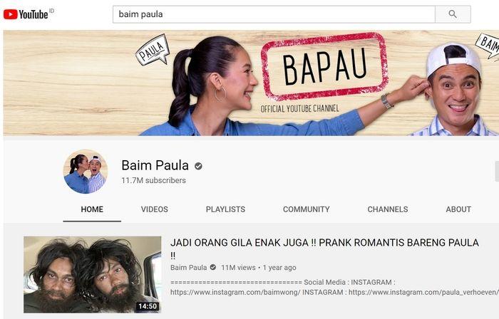 Pendapatan YouTube Baim Wong Tertinggi Meski Subscriber di Bawah Atta  Halilintar dan Raffi Ahmad - Semua Halaman - Nextren.grid.id