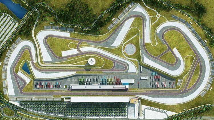 Tampak atas sirkuit Autodromo Internacional do Algarve atau dikenal sebagai sirkuit Portimao.