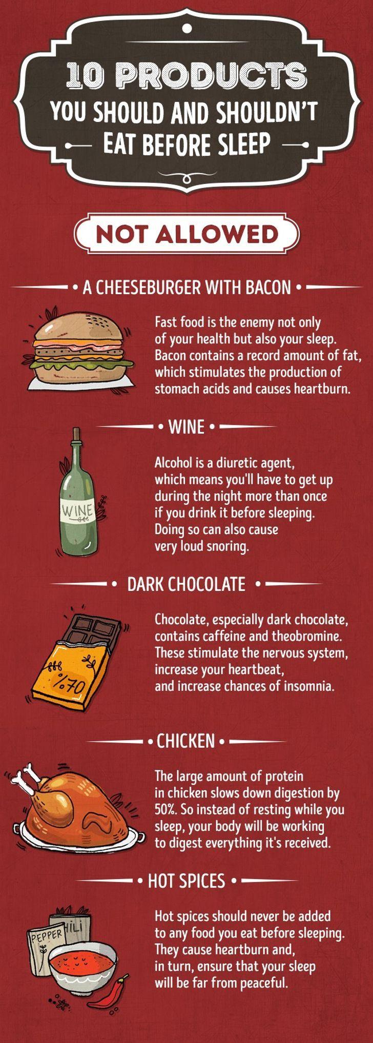 makanan yang tidak boleh dimakan sebelum tidur