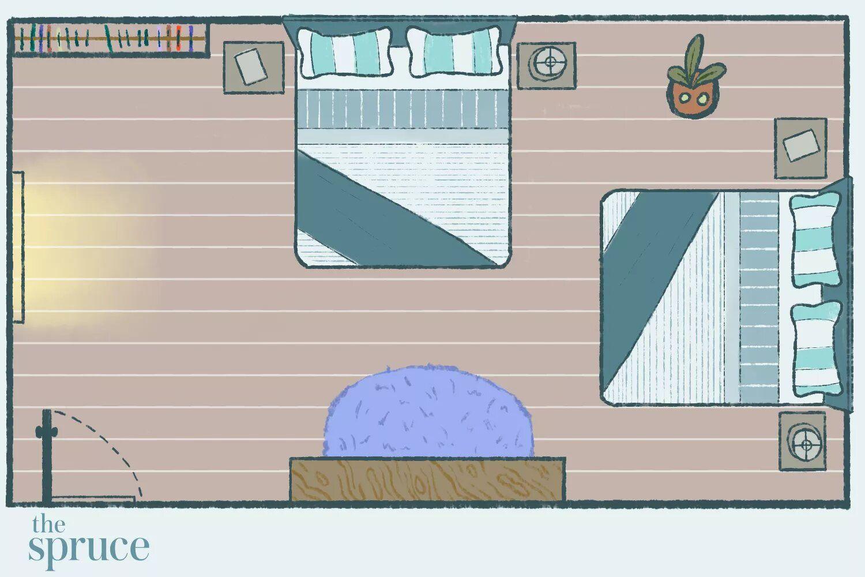 Posisi komando dalam penempatan tempat tidur di kamar