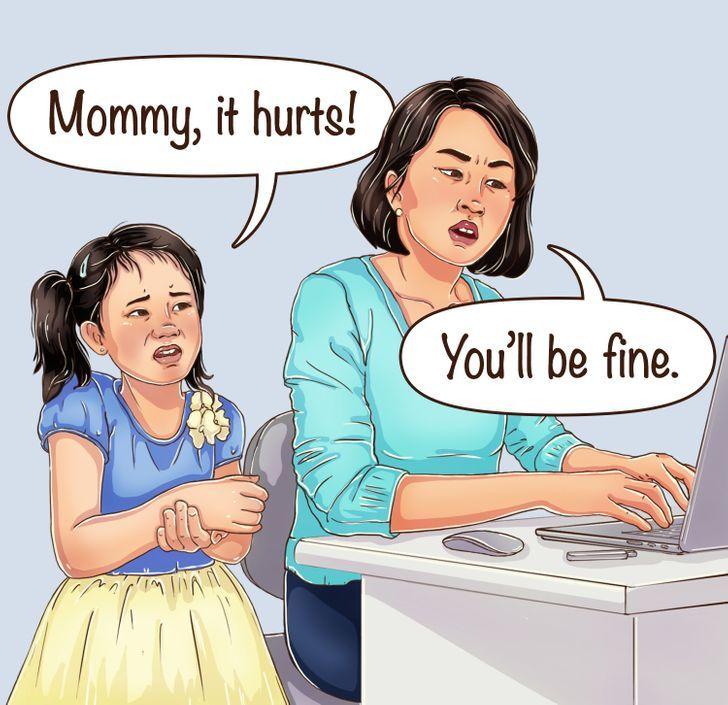 Mengabaikan perasaan anak