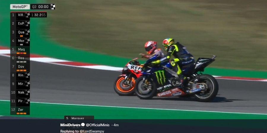 Marc Marquez Salahkan Valentino Rossi soal Insiden di Kualifikasi MotoGP San Marino 2019