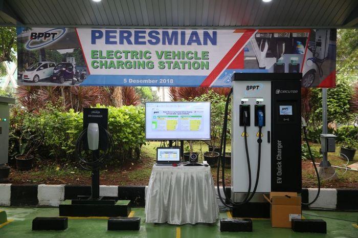 Ilustrasi stasiun pengisian fast charging milik BPPT