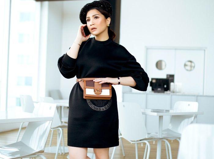 Nagita Slavina mengenakan fashion item branded yang dibandrol harga fantastis