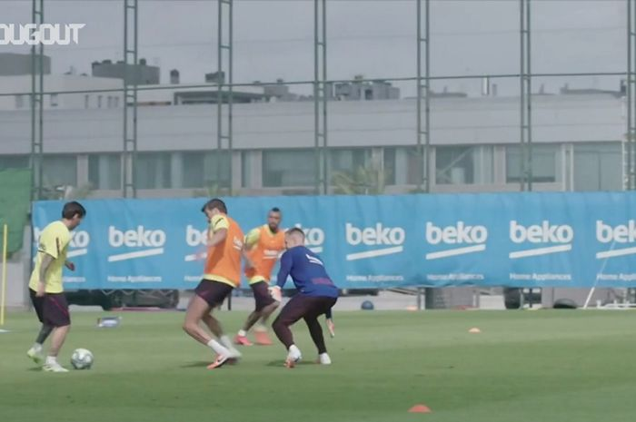 VIDEO - Lionel Messi Cetak 6 Gol di Sesi Latihan B