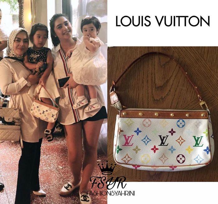 Keponakan Syahrini terlihat menenteng sebuah tas branded koleksi dari brand Louis Vuitton