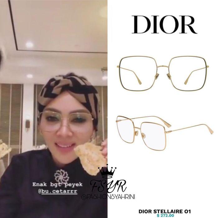 Kacamata Syahrini merek Dior seri Stellaire 01