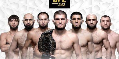 Jadwal UFC 242 - Khabib Nurmagomedov Vs Dustin Poirier, Minggu Dini Hari WIB