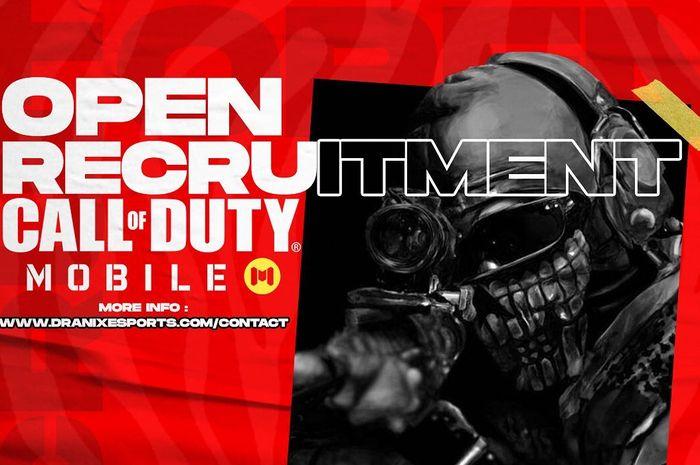 Dranix Esports membuka pendaftaran untuk pemain Call of Duty: Mobile