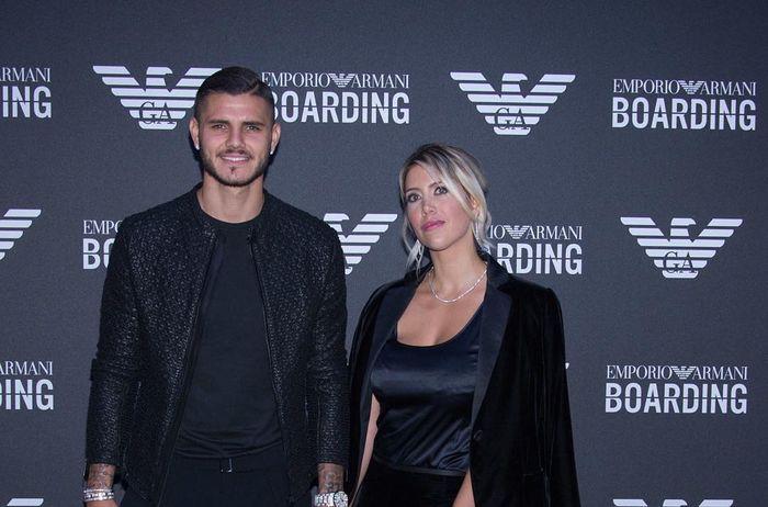 Mauro Icardi (kiri) bersama Wanda Nara