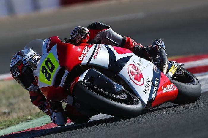 Dimas Ekky Pratama start di urutan 6 melakoni dua balapan di CEV Moto2 Albacete, (14/10/2018)
