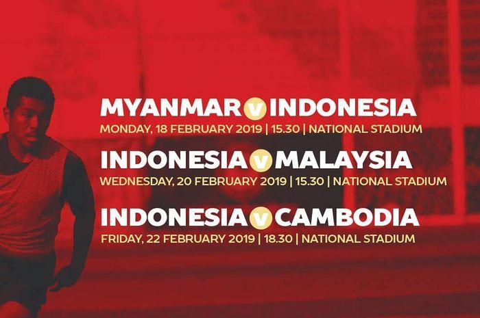 Live streaming timnas U-22 Indonesia dan jadwal Piala AFF U-22 2019.