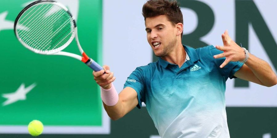 Kalahkan Federer di Final Indian Wells 2019, Dominic Thiem Tak Percaya