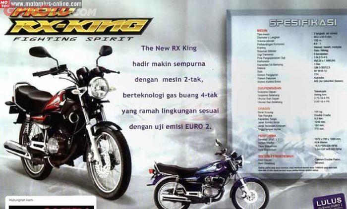 Brosur spesifikasi Yamaha RX-King generasi 2002