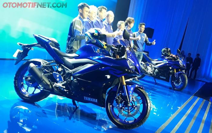 Global launching sport bike Yamaha R25 dan R3 versi 2019 di Jakarta
