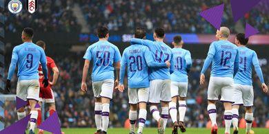 Hasil Piala FA - Kartu Merah dan 100 Gol Loloskan Manchester City