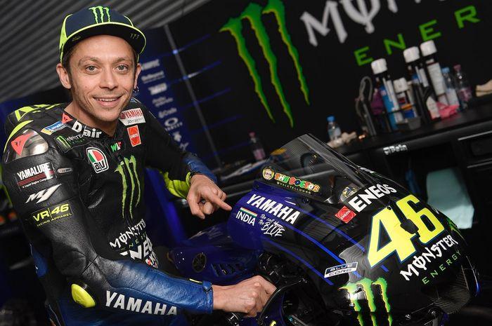 Valentino Rossi saat berada di Sirkuit Losail, Qatar untuk menjalani seri MotoGP Qatar 2019.