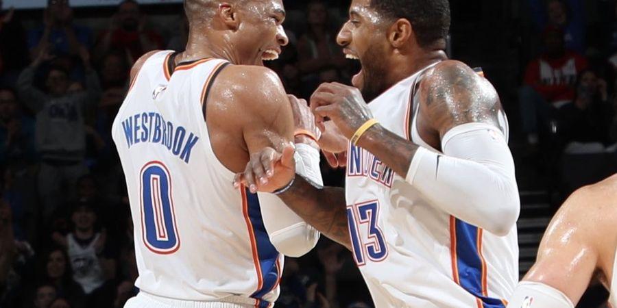 Cetak Double Triple-Double, Westbrook dan George Masuk Lis Langka NBA