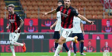 AC Milan Vs Sparta Praha - Zlatan Ibrahimovic Cs Sempurna di San Siro