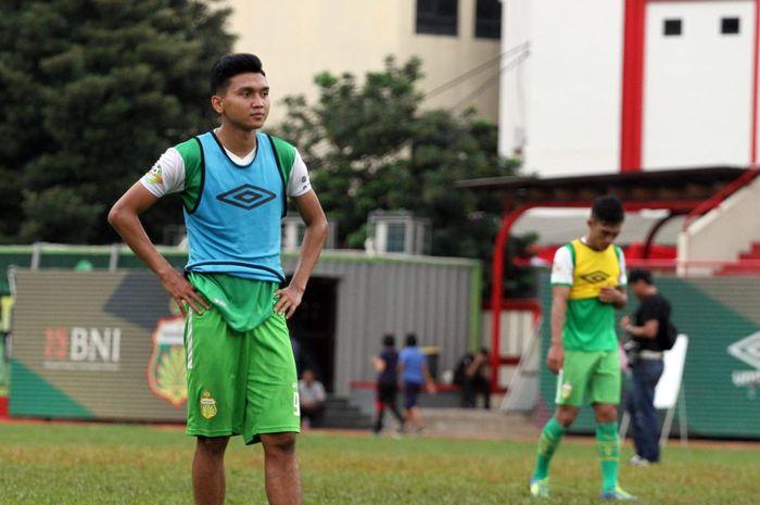 Penyerang Bhayangkara FC Dendy Sulistyawan.
