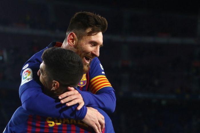Lionel Messi saat masih memperkuat Barcelona.