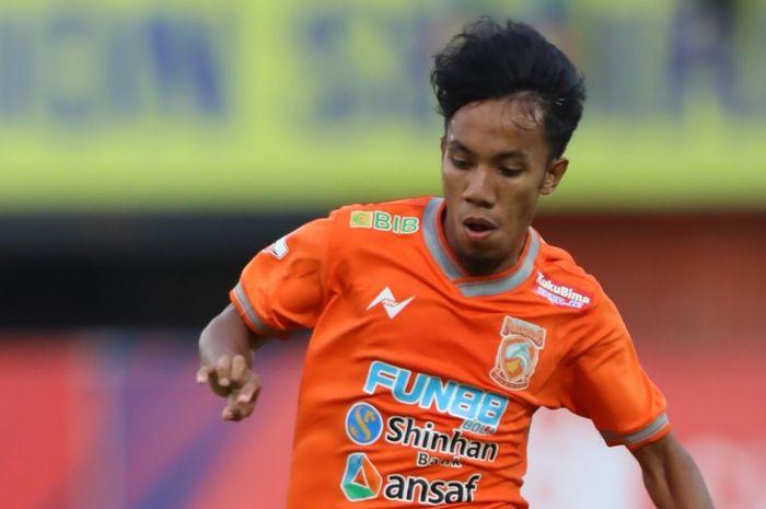 Pemain Borneo FC yang masih berusia 20 tahun, Muhammad Sihran.