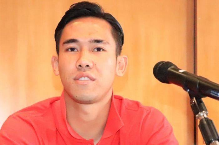 Pemain Persija Jakarta, Ryuji Utomo, dalam sesi konferensi pers di Singapura, Senin (4/2/2019).
