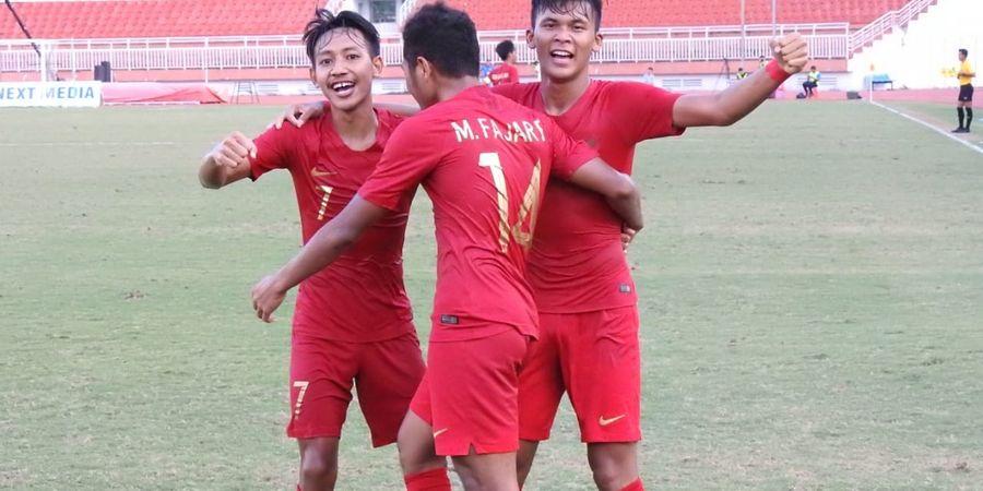 Fajar Bersyukur Timnas U-18 Indonesia Akhirnya Menang Lawan Myanmar