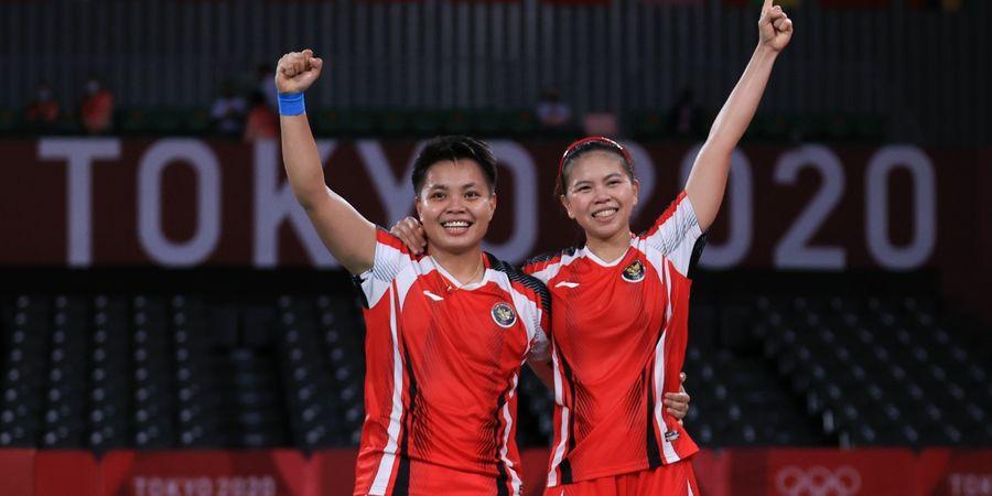 Olimpiade Tokyo 2020 - Raket China Patah dan Nyaris Pukul Kepala Teman Sendiri, Greysia/Apriyani Raih Emas