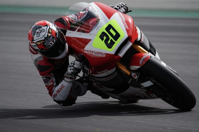 Dimas Ekky Pratama start  di posisi 7 CEV Moto2 Championship di Jerez, Spanyol