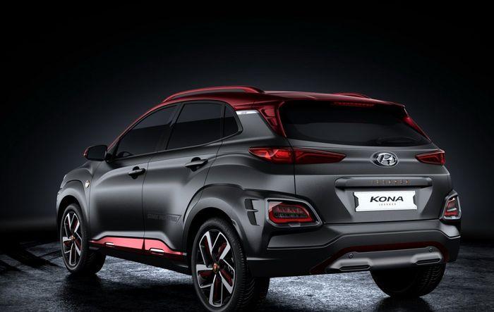 Desain buritan Hyundai Kona Iron Man Edition